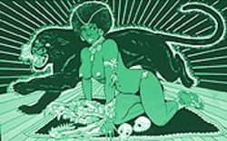 Here, pussycat: John Slate's vintage black-light posters are at No tsu oH this weekend.