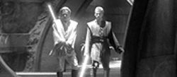 Attack of the Clones brings back a sense of danger to the Star Wars universe, so Obi-Wan (Ewan McGregor) and Anakin (Hayden Christensen) have to whip out their lightsabers.