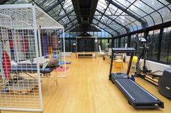 Tony and Cindy Petrello have attempted to give their disabled daughter, Carena, the best care possible — and that has included this atrium where their daughter once exercised.