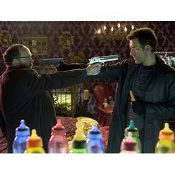This film's very title, Shoot 'Em Up (with Paul Giamatti and Clive Owen) announces its maker's intent.