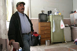 That fridge over Juan Ramon Aguillar's shoulder  doesn't work…