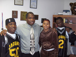 When Gregory Grant (second from left) got shot on a 