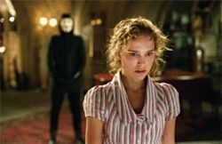 V for Vendetta: What, all the English actresses were busy, so they hired Natalie Portman?