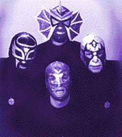 Mexican wrestling masks in place, the members of Los Straitjackets deliver strong instrumental surf.