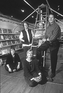 Clockwise from left: Susanne Theis, Helen Fosdick, Frank Davis, Karl Kilian and Vikki Fruit -- great understanders of the sincere gesture.