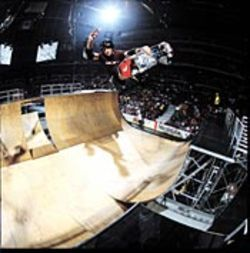 Tony Hawk gets some air.