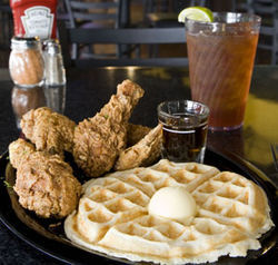 Not Cajun, but great: Mama Assumption's chicken and waffles.