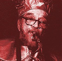 Marshall Allen leads the Sun Ra Arkestra into Houston.