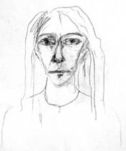 Patti Smith's self-portrait is on view at the  Contemporary Arts Museum.
