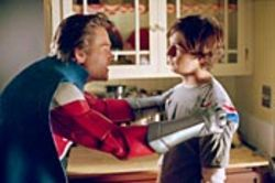 The Commander (Kurt Russell) and his son Will  (Michael Angarano), a late bloomer in the superpower  department.