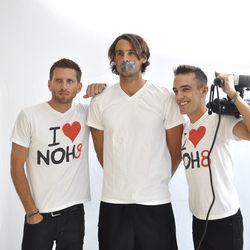 NOH8 photo shoot September 20, 2012  www.noh8campaign.com