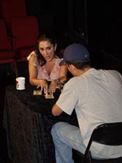 Ananka Kohnitz plays the shady fortune-teller.