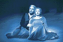 Stamina to spare: Andersen and Behle, full of Wagnerian sound and fury, supply most of the tension and drama in Tristan and Isolde.