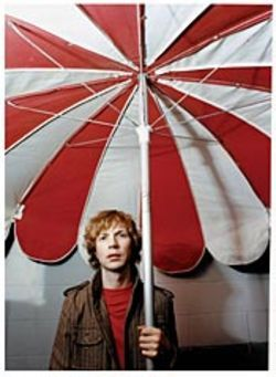 Gimme Shelter: Beck tries to weather the expectations  under his giant umbrella.
