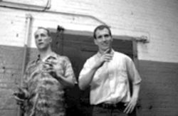 """Act like a mannequin"": Matt Walsh, left, and Ian Roberts wrote and star in Martin & Orloff. This picture is about all you're likely to see of it anytime soon."