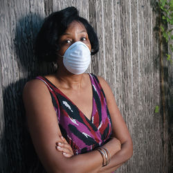 Deborah Wilkerson started wearing a mask to be able to garden at her home