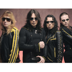 Singer Michael Sweet (second from left) says every time you see Stryper, you see Isaiah 53:5.