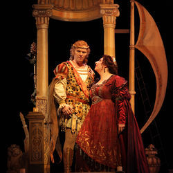 Love at first sight: Bacchus (Alexey Dolgov) and Ariadne (Christine Goerke).