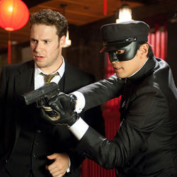 "The Green Hornet (Seth Rogen) gets help from his ""human Swiss Army knife"" sidekick (Jay Chou)."