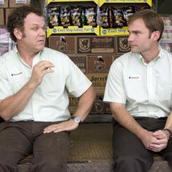 John C. Reilly and Seann William Scott play dueling assistant managers.