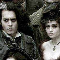 The story of Sweeney Todd (Johnny Depp) and his accomplice (Helena Bonham Carter) is told almost entirely through song.