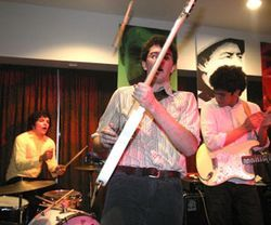 ..but during their raucous live sets they lose everything from drumsticks...