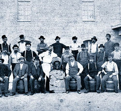 The Lone Star Brewery — shown here in the late 1890s — was founded by Adolphus Busch.