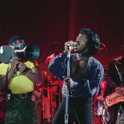 James Brown struts his stuff.