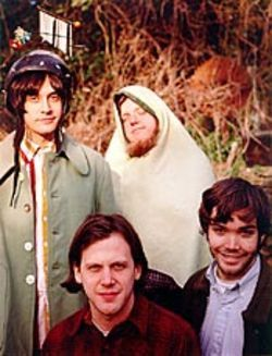 Neutral Milk Hotel sounds like several punk rockers  and a Bulgarian wedding band trapped in an elevator,  screaming.