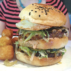 The Big-H burger is $20 and worth it.