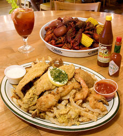 The boiled crawfish are so spicy they'll burn your lips, and the fried seafood platter is amazingly greaseless.