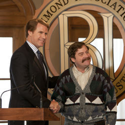 Will Ferrell as Cam Brady and Zach Galifianakis as Marty Huggins set increasingly absurd traps for each other as they campaign.
