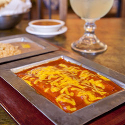 The Refugio enchiladas are a classic.