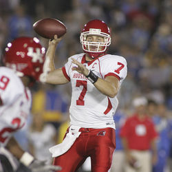 Keenum attempted a pass at UCLA on September 18, 2010, the last time the star quarterback saw game action.