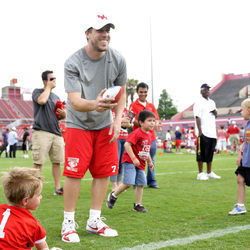 During the summers, Keenum volunteers his time as a huddle leader at FCA camps.