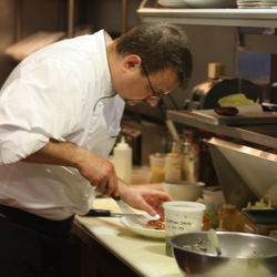 Jason Hauck, executive chef at Soma Sushi, plating his Gulf-caught snapper sashimi last&amp;nbsp;year.
