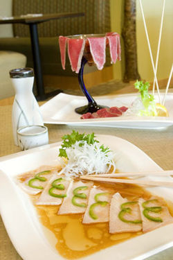 What's really special at Masa: The new-style sashimi.