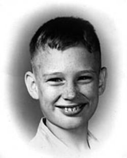 Billy's last school picture, taken in 1958 -- the year before he disappeared.