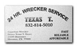 As &quot;Texas T. Shore,&quot; Tony started a wrecker service.
