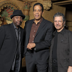 L-R: Lenny White, Stanley Clarke and Chick Corea return to Return to Forever on this year's LP Forever (Concord).