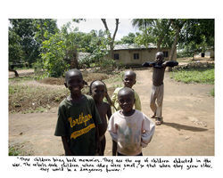 In Mariam's Story, 2007, African children like those stolen by rebels are shown.