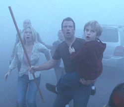 The Mist (with Laurie Holden, Thomas Jane and Nathan Gamble) is a disaster.