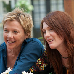 Annette Bening and Julianne Moore trade off big scenes in The Kids Are All Right.