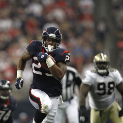 Arian Foster's hamstring will need to be full strength if the Texans are going to run to daylight.