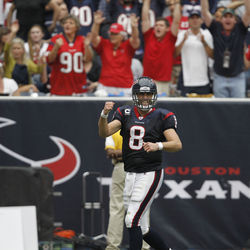 4,000 yards is fine, but Texan fans will only be fist pumping if Schaub leads them to the playoffs.