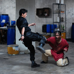 Fight scenes (here, with Iko Uwais and Acip Sumardi) leave the viewer breathless and squirming.