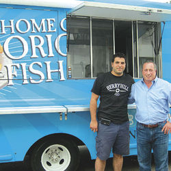 Kevin Charif, left, and Jeff Anon are eager to get Berryhill Baja Grill's new food truck on the streets.