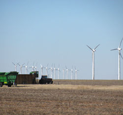 This wind farm in White Deer, Texas, is small compared to the one Pickens is planning nearby.