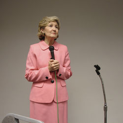 Speaking before the local Republican Jewish Coalition in North Dallas, Hutchison preached a big-tent ­approach for the Republican Party.