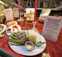 Eating in on Valentine's Day can be romantic.
